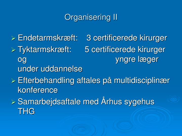 Organisering II