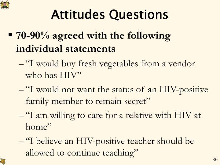 Attitudes Questions