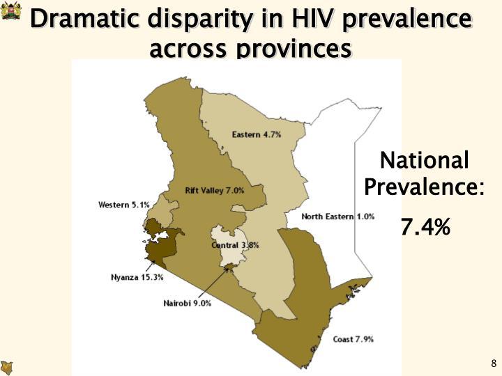 Dramatic disparity in HIV prevalence