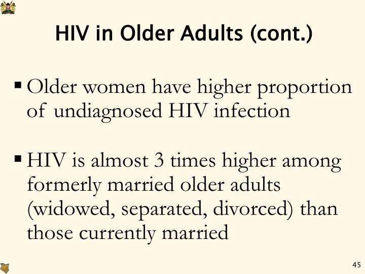 HIV in Older Adults (cont.)