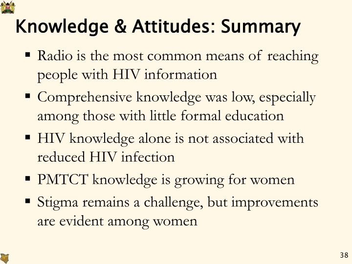 Knowledge & Attitudes: Summary