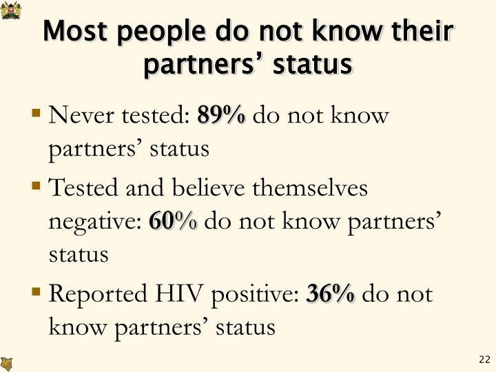 Most people do not know their partners' status