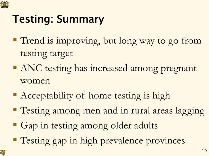 Testing: Summary