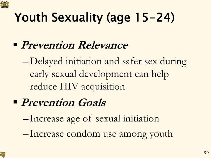 Youth Sexuality (age 15-24)