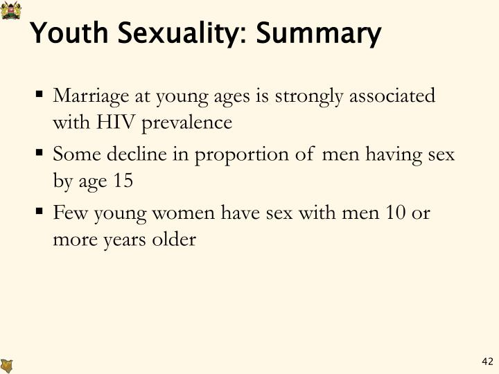 Youth Sexuality: Summary