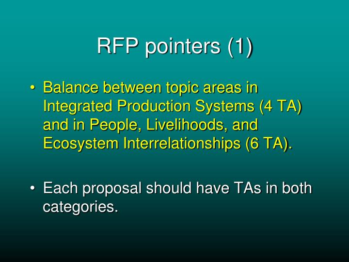 RFP pointers (1)