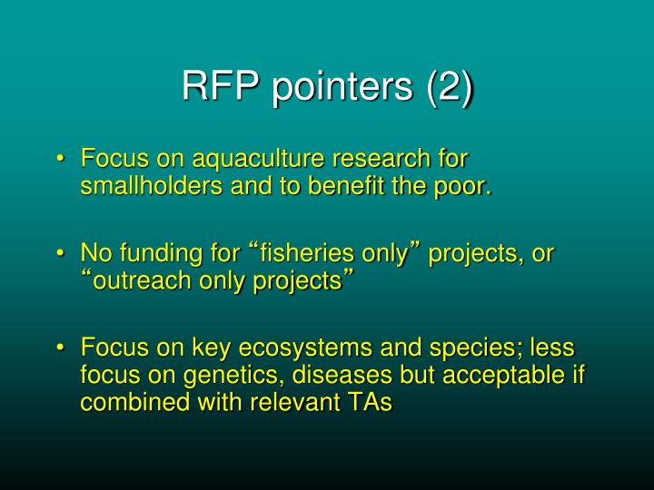 RFP pointers (2)