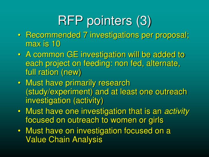 RFP pointers (3)