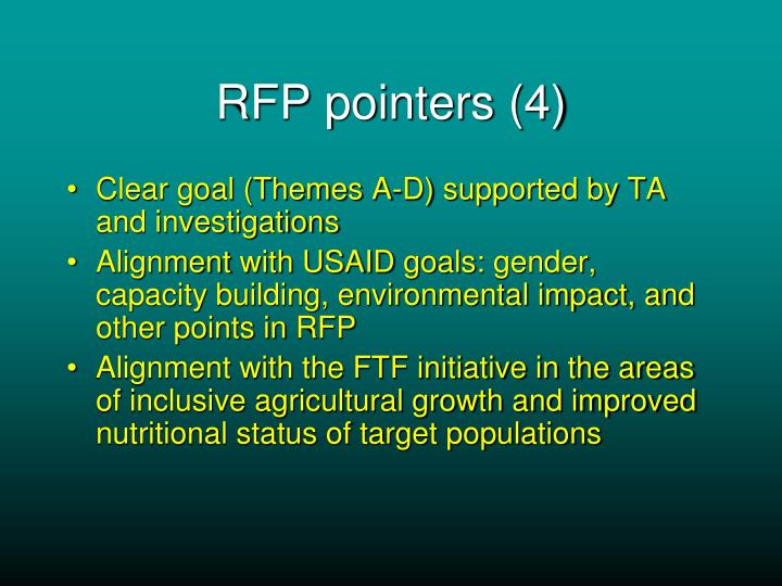 RFP pointers (4)