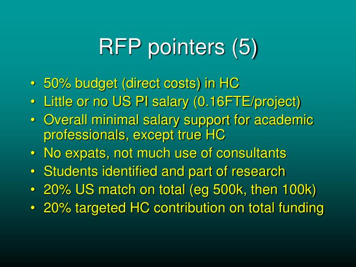 RFP pointers