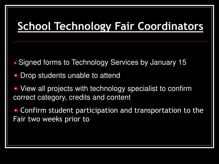 School Technology Fair Coordinators