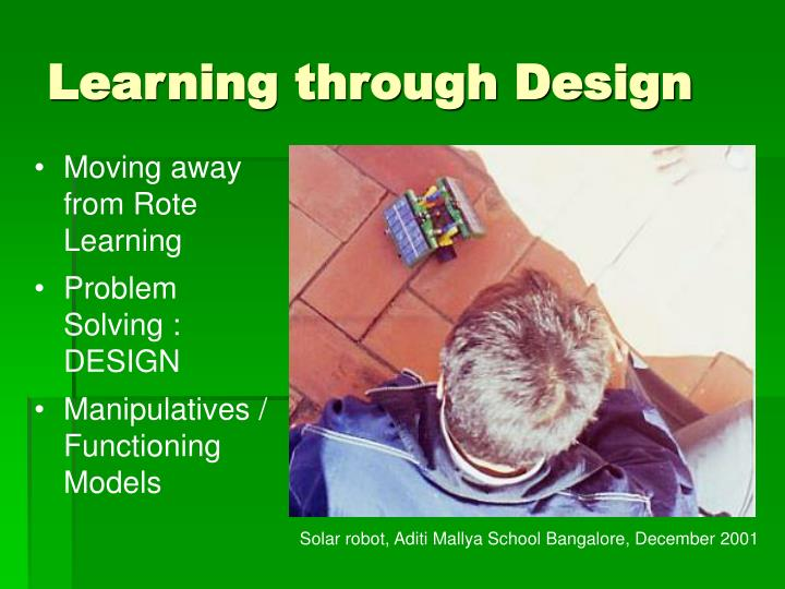 Learning through design