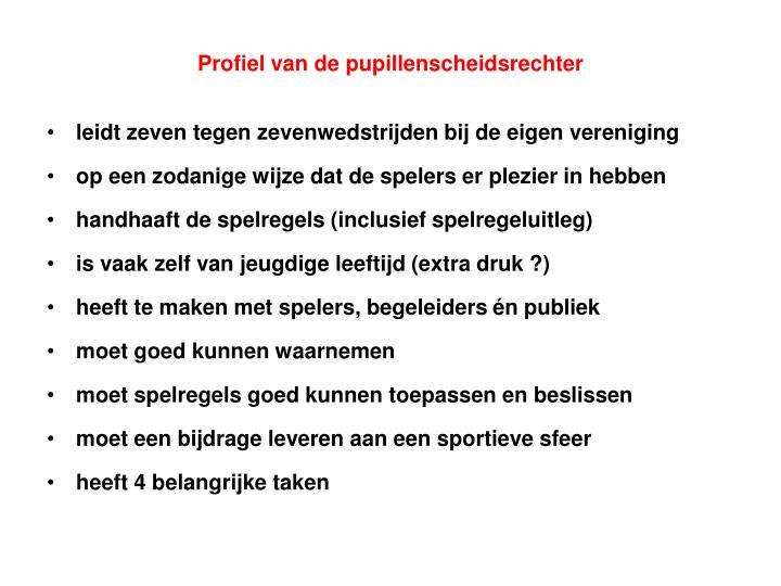 Profiel van de pupillenscheidsrechter
