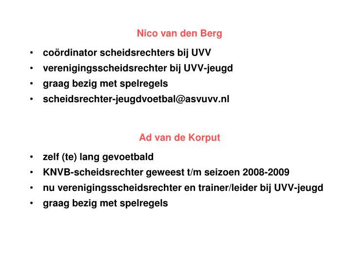 Nico van den Berg