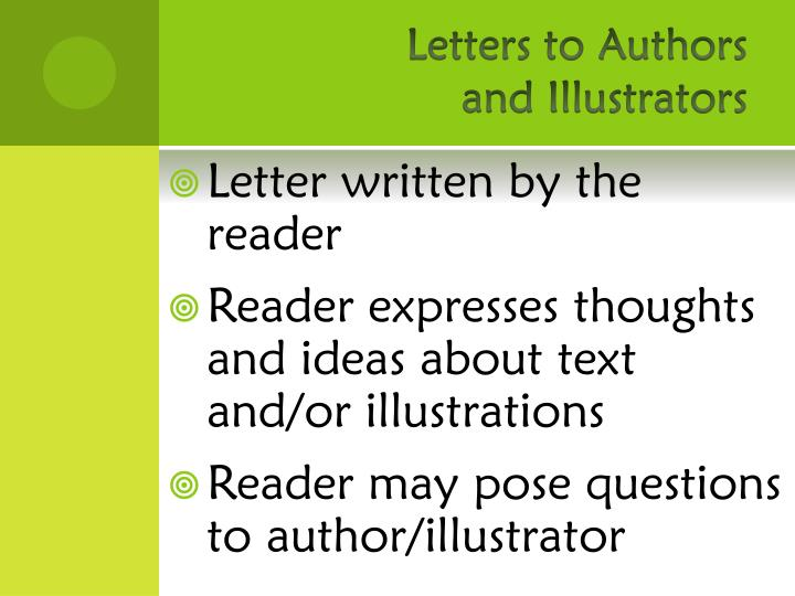 Letters to Authors