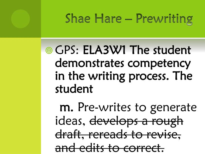 Shae hare prewriting