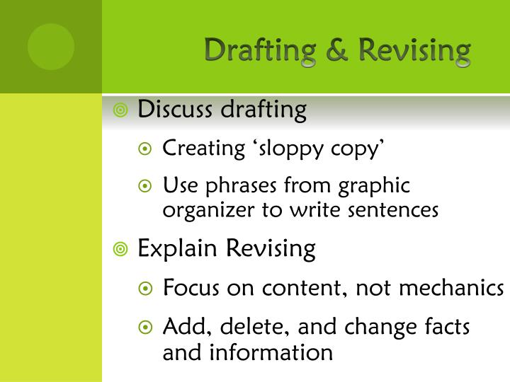 Drafting & Revising