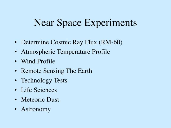 Near Space Experiments