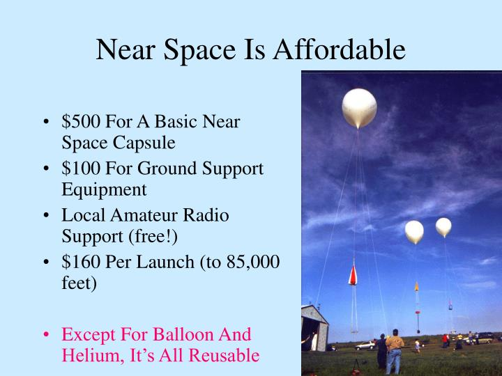 Near Space Is Affordable