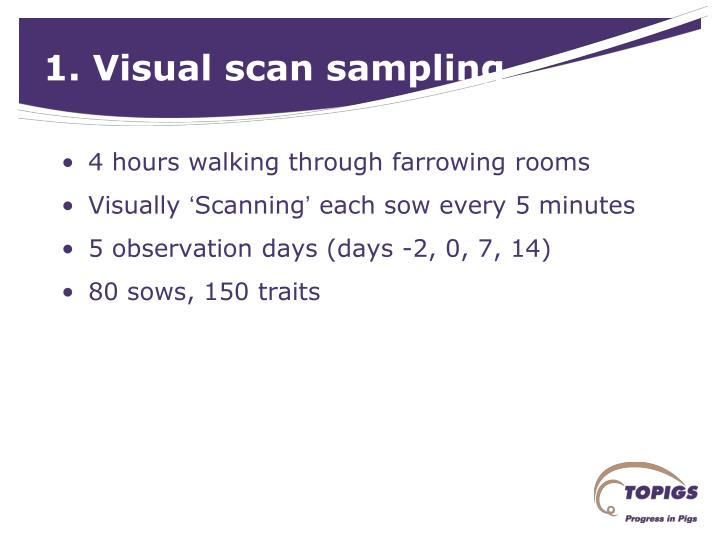 1. Visual scan sampling