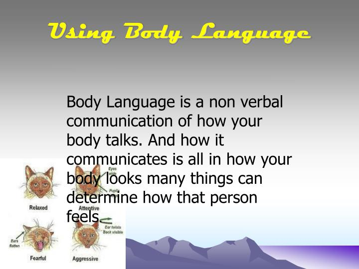 Using body language
