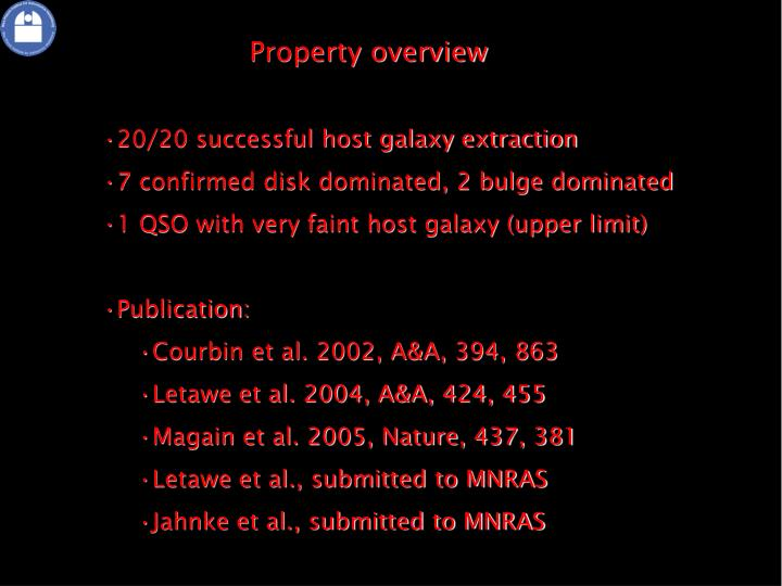 Property overview