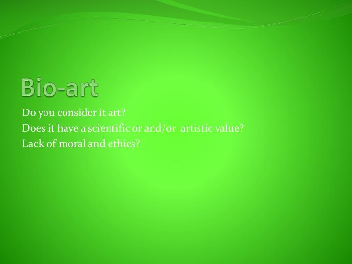 Bio-art