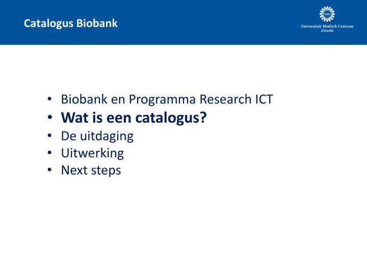 Catalogus Biobank