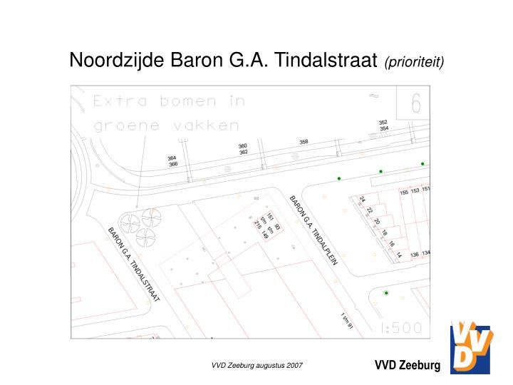 Noordzijde Baron G.A. Tindalstraat