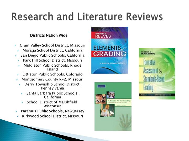 Research and Literature Reviews