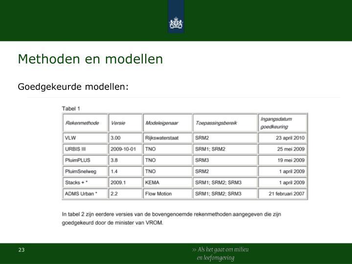 Methoden en modellen