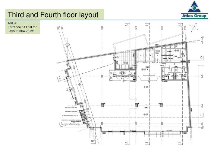 Third and Fourth floor layout