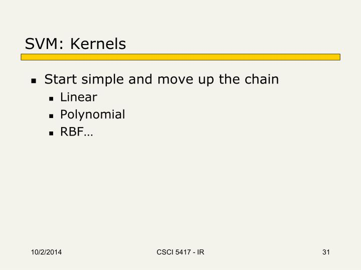 SVM: Kernels