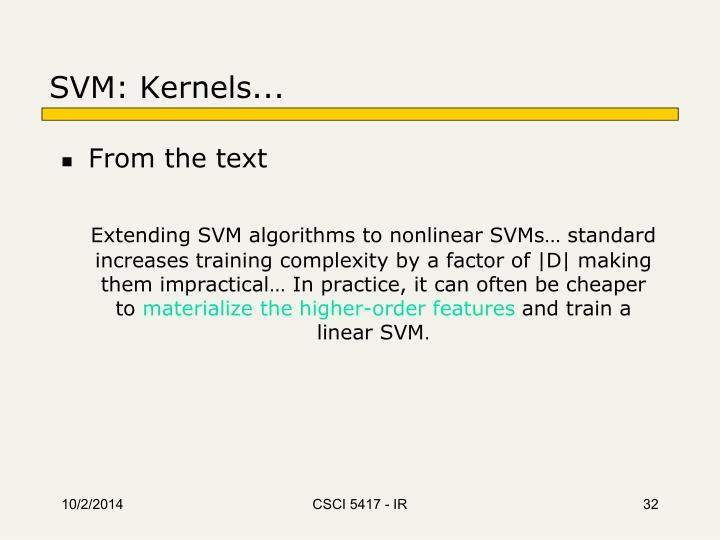 SVM: Kernels...
