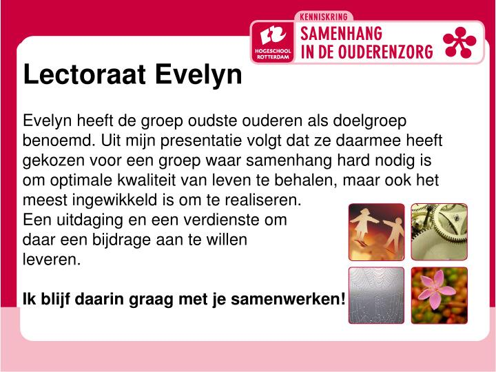 Lectoraat Evelyn