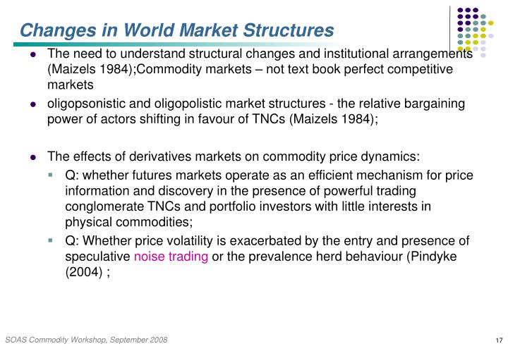 Changes in World Market Structures