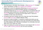 commodity prices and economic development in a historical context