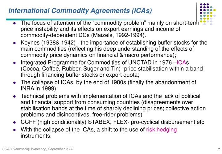 International Commodity Agreements (ICAs)
