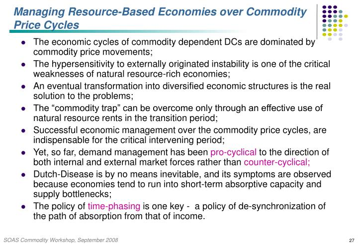 Managing Resource-Based Economies over Commodity Price Cycles