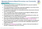 managing resource based economies over commodity price cycles