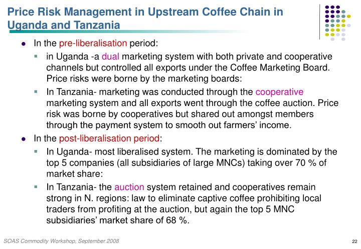 Price Risk Management in Upstream Coffee Chain in Uganda and Tanzania