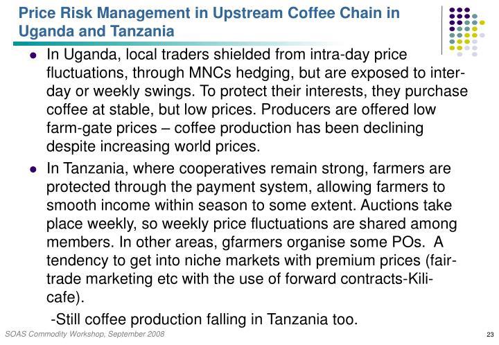 Price Risk Management in Upstream Coffee Chain in Uganda and Tanzania