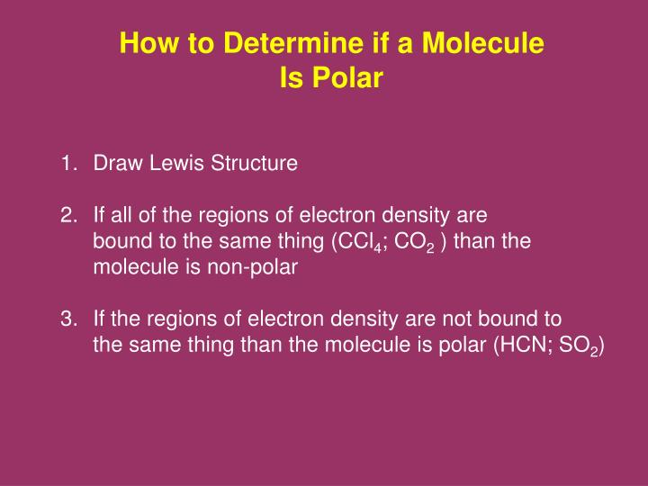 How to Determine if a Molecule