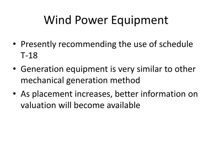 Wind Power Equipment