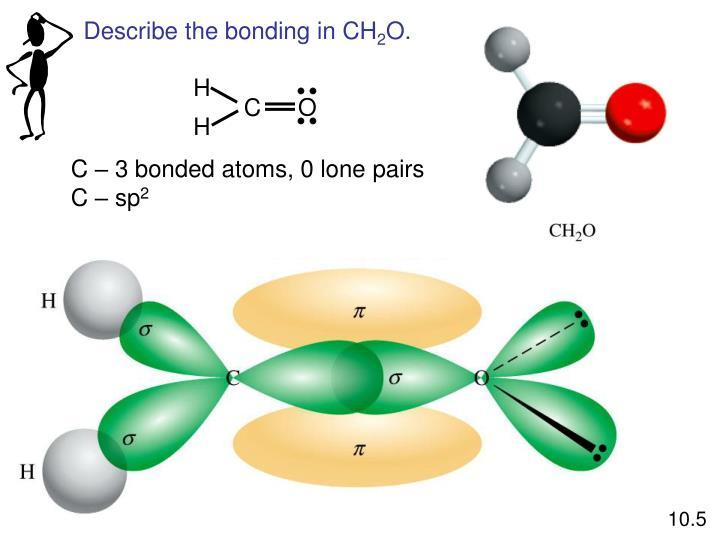Describe the bonding in CH