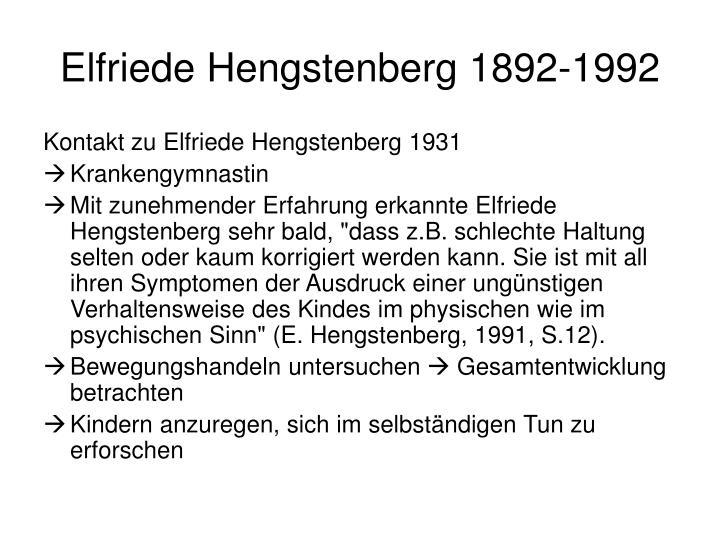 Elfriede Hengstenberg 1892-1992