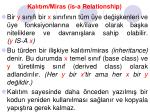 kal t m miras is a relationship