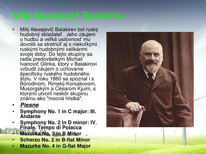 Milij Alexejevič Balakirev