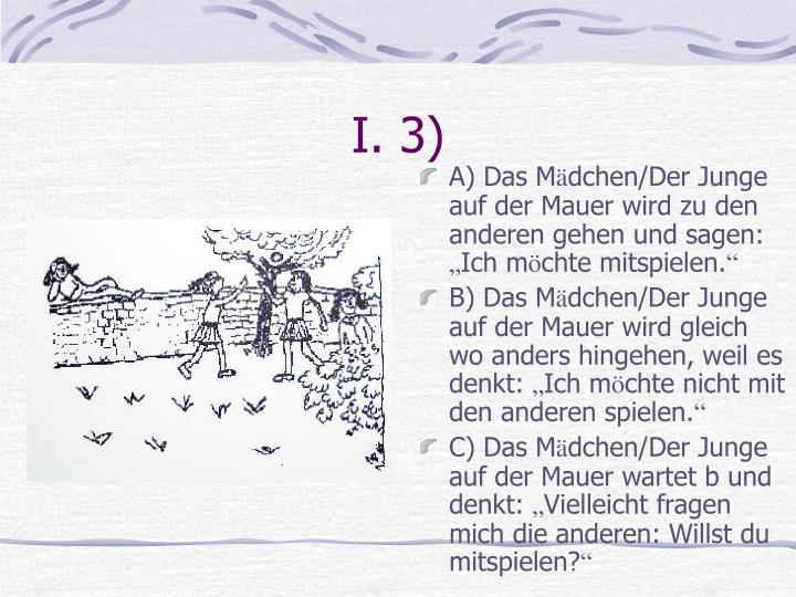 I. 3)