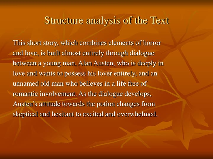 Structure analysis of the Text